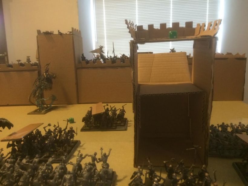 A blizzard of fire knocks back two of the Mortarchs, though Arkhan reaches the wall